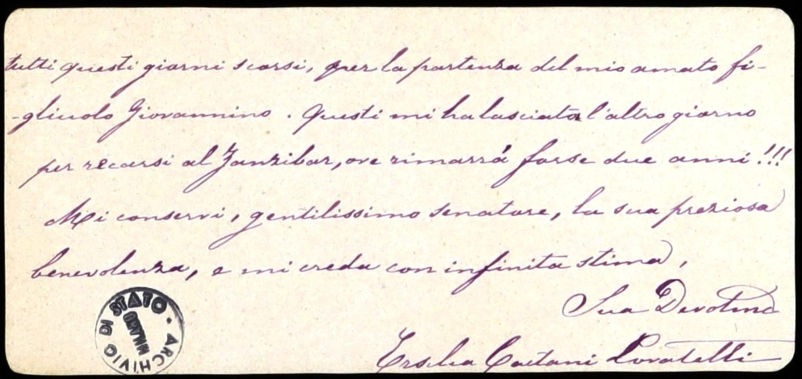 Ersilia Caetani Lovatelli, l'archeologa amica degli archivisti e mamma -  Donne tra le carte
